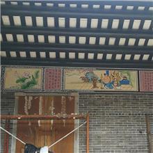 湛江市霞山祠堂神龛彩绘,祠堂墙绘画,祠堂墙绘,祠堂手绘图片