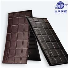 多功能银行卡包 黑色方块纹PU卡包 防消磁26卡位男士钱包定制
