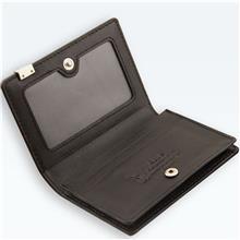 男士商务仿皮名片夹 便携个性多功能卡包 黑色名片包厂家定制
