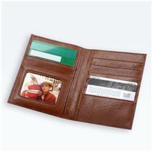 商务仿皮多卡位皮夹 新款男士皮质登机夹证件卡包定制出售