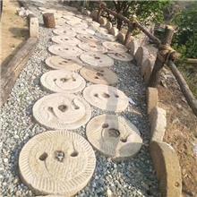 老旧石槽石磨盘 室内组合流水景石头鱼缸花盆水槽庭院装饰水景石槽