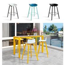 会所户外休闲吧椅    铝合金塑料吧椅   阳光房吧椅