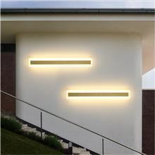 户外防水壁灯长条别墅庭院太阳能灯室外洗墙灯阳台极简LED灯具