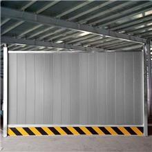 批发零售防风围挡 启华灰色彩钢板 洁净工程房屋施工围挡 双层彩钢板