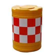 路障设施 道路分流防撞桶 圆形塑料防撞桶 耐冲击防撞桶