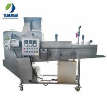 飞越机械 嵌入式鱼排上糠机 全自动鱼片裹糠上面包糠机 新品研发带鱼上浆机