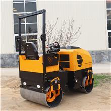 安全在手 方向盘操作2吨压路机 全液压操作小型压路机 草坪手推式双轮振动碾