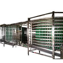 网带式螺旋塔速冻设备 双螺旋海鲜速冻流水线 水饺螺旋式速冻设备