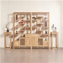 白蜡木酒柜 新中式酒柜 客厅隔断柜 实木置物柜 可定做