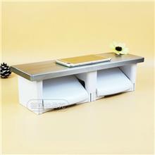 厂家供应 居家不锈钢白色置物纸巾架 多功能免打孔防水餐巾纸架纸巾盒
