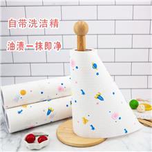 纸巾厂家批发 自带洗洁精懒人纸抹布 一次性清洁厨房用纸吸油纸 干湿两用洗碗巾