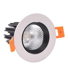 LED嵌入式筒灯 洗墙灯 家用客厅COB深防眩筒灯 服装店咖啡店商铺天花灯