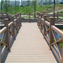 塑木护栏批发价 军森 别墅庭院木塑护栏供应 黑龙江户外公园塑木护栏厂家