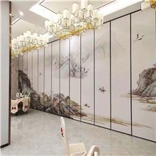 中餐厅隔断墙订购生产 云南包间移动墙价格 厂家生产铝合金隔断墙