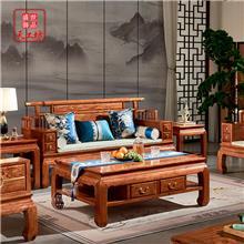 花梨木实木沙发中式成套红木仿古123家具现代禅意原木沙发套装