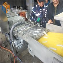 威化纸包红豆派上屑机 上糠机 速冻产品裹涂加工成套生产线
