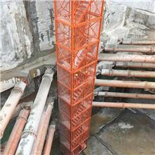 如祥长期供应 箱式梯笼 安全梯笼供应商 地铁基坑施工梯笼
