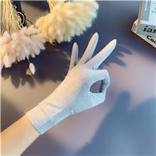 型号多样 户外运动手套 夏季纯色冰丝手套 有弹力防晒手套
