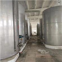 二手50吨不锈钢葡萄酒储罐立式平底单层液体储存罐罐头食品搅拌罐