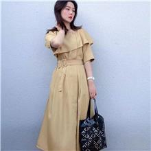 桑蚕丝连衣裙女新款2021  时尚服装批发厂家  广州韩版女装尾货批发货源