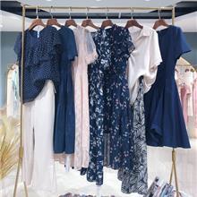 女装时尚韩版纯色波点纹理圆领短袖大码连衣裙女2021夏