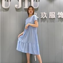 欧洲站女装连衣裙 广州女装大码货源 欧美女装认准哥弟连衣裙2021新款