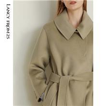 双面羊绒大衣女2021秋冬新款羊毛外套 中老年女装优选久玖服饰