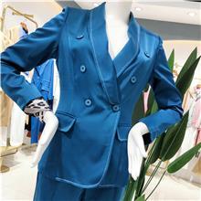 2021秋季新款女装棉服外套  反季中长款女装棉服  中老年女装棉衣