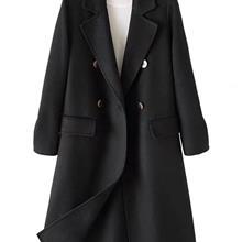 村上春双面羊绒大衣直播货源 拉夏贝尔 折扣女装批发尾货 库存清仓 中老年女装