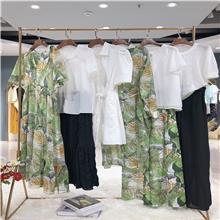 广东潮牌女装货源 夏季新款折扣女装 时装商场女装分份批发