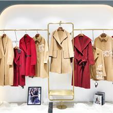 肯夫人2021冬季女装羊绒大衣  中长款大码羊绒大衣  韩版宽松双面呢羊毛大衣