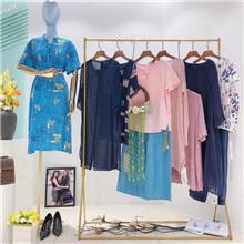 杭州四季青服装批发市场选久玖服饰 中老年女装大码棉麻系列