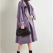 双面羊绒大衣 中老年秋季服装新款女装外套 女装中老年服装