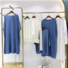 2021秋季新款时尚连衣裙 宽松大版女装货源批发  广州女装批发市场