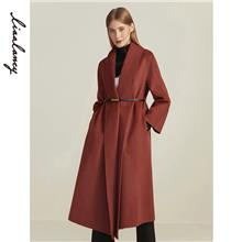 双面呢大衣 折扣女装羊绒大衣拿货 直播女装批发一手货源