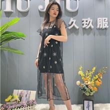 北京女装 香云纱连衣裙 大码女装批发 淘宝一件代发 真丝连衣裙