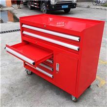 厂家直销双开门五金工具车 车间工具柜 加厚抽屉式推车