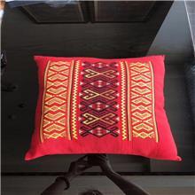 海南特色纯手工织品 黎棉靠垫抱枕 红色样式50-47.5cm 海木纺 厂商直供