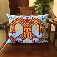 天蓝色黎棉沙发靠垫抱枕  简约家用 大力神图案 海木纺 厂家直销