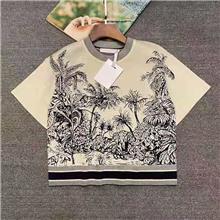 东莞服装加工 羊绒衫批发 羊绒衫加工 D家同款椰树提花针织 羊绒加工厂