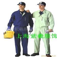 上海厂家供应春秋简约男士工作服 纯色劳保工作服 身体防护服