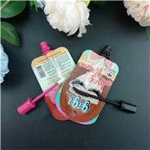 厂家供应睫毛膏铝箔异型吸嘴袋 一次性彩妆包装袋带刷头可定制