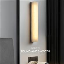 新中式云石壁灯 客厅背景墙灯 现代简约过道创意长条壁灯 卧室床头灯