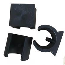 5MM黑色U形管卡 塑料带钉脚垫   办公椅子脚套 家具配件