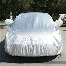 巨晨批发防晒隔热加厚型铝膜车衣 汽车防晒罩 铝箔铝膜防晒防雨防尘汽车车衣