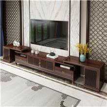 新中式实木电视柜 小户型白蜡木茶几电视柜组合 客厅酒柜边柜地柜套装 可定做