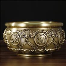 五福聚宝盆 香炉摆件 创意金属工艺品量大钜惠