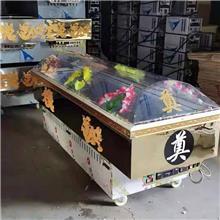 殡葬水晶棺冰棺 全铜管冰柜冷冻棺材 双冷压缩机钛金板水晶棺 现货销售