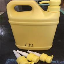 批发1.29升 Pe洗洁精瓶子  酒店洗洁精桶 洗涤带泵头塑料瓶