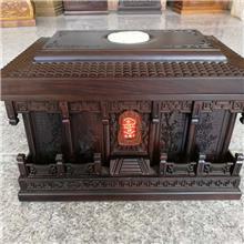 黑檀木骨灰盒新款迁坟安葬寿盒寿材殡葬用品